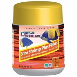 Ocean Nutrition Brine Shrimp Plus Flakes. 34g
