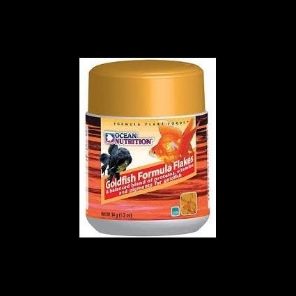 Ocean Nutrition Goldfish Formula Flakes 34g (alimento en escamas para peces de agua fría)