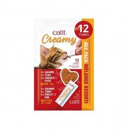 Catit Creamy Snack Liquido Variado 12Px15G
