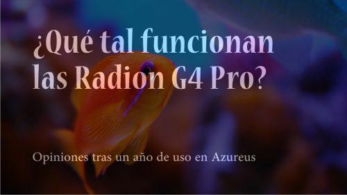 Radion G 4 Pro, actualización tras más de un año de uso.