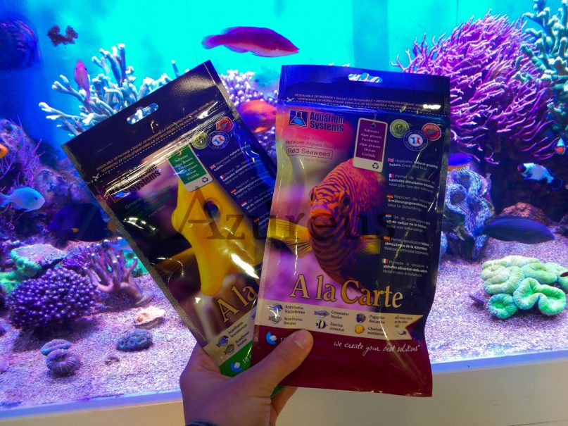 Algas verdes y rojas de la marca Aquarium Systems.